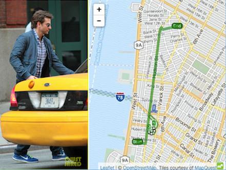 Bradley Cooper Taxi Tip