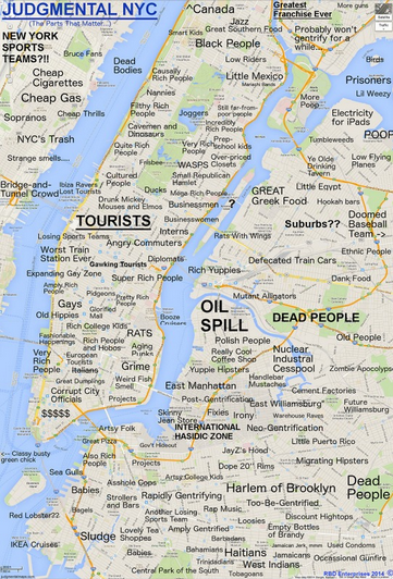 MAP of NYC Stereotypes