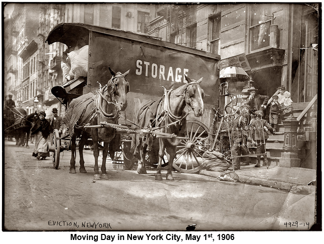 Moving Day in New York City, May 1st, 1906