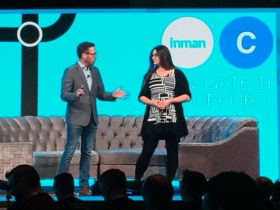 Jacy Riedmann and Chris Drayer at Inman Connect