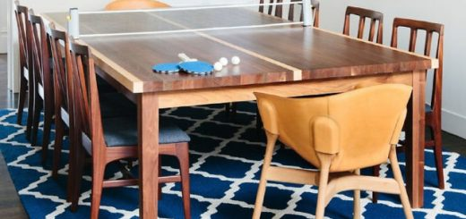 ping pong dining room